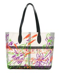 Burberry Multicolor Doodle Tote Bag