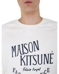 Maison Kitsuné White Palais Royal Sweatshirt for men