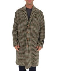 Gucci Multicolor Single Breasted Houndstooth Coat for men