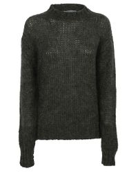 Prada Green Chunky Knit Relaxed Fit Sweater