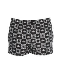 Dolce & Gabbana Black Monogram Printed Swim Shorts for men