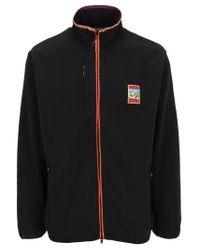 Adidas Originals Black Adiplore Polar Fleece Track Jacket for men