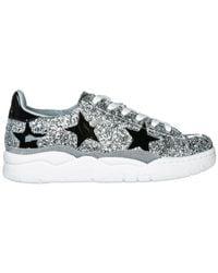 Chiara Ferragni Metallic Roger Star Sneakers