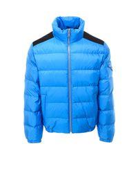 Prada Blue Triangle Logo Puffer Jacket for men