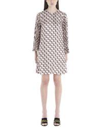 Valentino Pink Vlogo Printed Shift Dress