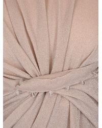 Lanvin Pink Long Draped Dress