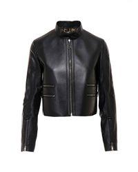 Fendi Black Zipper Trim Cropped Jacket
