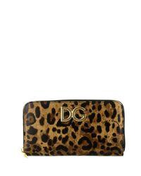 Dolce & Gabbana Multicolor Leopard Print Logo Wallet