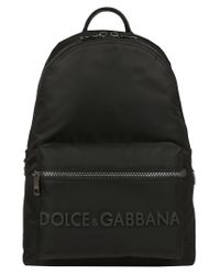 Dolce & Gabbana Black Logo Backpack for men