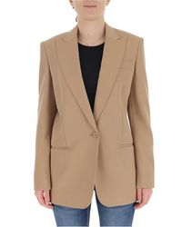 Stella McCartney Natural Single Breasted Blazer