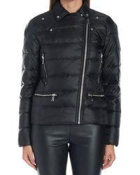 MICHAEL Michael Kors - Black Zip-up Padded Jacket - Lyst