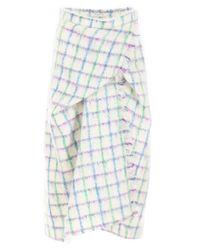 Vivetta Multicolor Checked Draped Midi Skirt