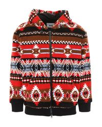 MSGM Red Vintage Fleece Jacket for men