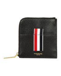 Thom Browne Black Vertical Intarsia Wallet for men