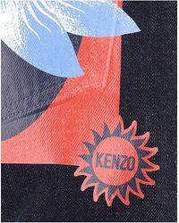 KENZO Blue Printed Pocket Jeans for men