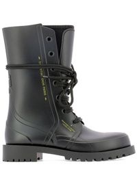 Dior Black Camp Rubber Ankle Boot