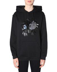 McQ Alexander McQueen Black Sequinned Hoodie