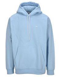 Nike Blue Lab Logo Embroidered Hoodie for men