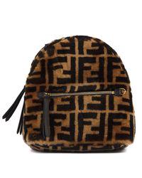Fendi Brown Ff Monogram Mini Backpack