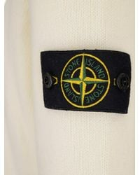 Stone Island White Logo Patch Sweater for men