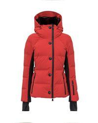 3 MONCLER GRENOBLE Red Guyane Hooded Down Jacket