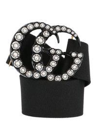 Gucci - Black Double G Embellished Belt - Lyst