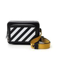 Off-White c/o Virgil Abloh Black Diagonal Print Belt Bag for men
