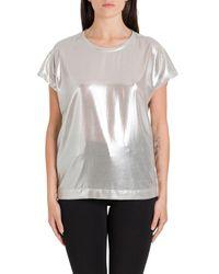 Pinko Metallic Laminated T-shirt