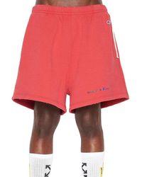 Off-White c/o Virgil Abloh - Red Champion Melange Shorts for Men - Lyst
