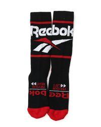 Reebok Black Classics Vector Graphic Crew Socks