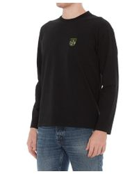 KENZO Black Tiger Mountain Crest Embroidered Sweater for men