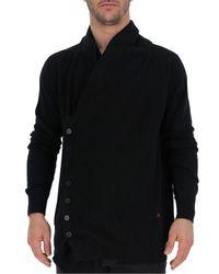 Alexander McQueen Black Asymmetric Buttoned Cardigan for men