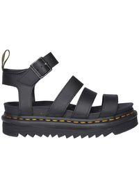 Dr. Martens Black Blaire Hydro Platform Sandals