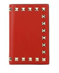 Valentino Garavani Red Garavani Rockstud Bifold Wallet