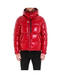 Moncler - Red Hooded Padded Jacket for Men - Lyst