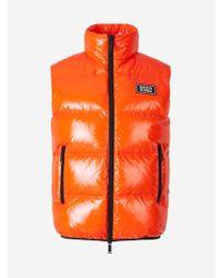 DSquared² Orange Padded Patch Vest for men