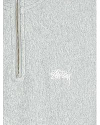 Stussy Gray Logo Embroidered Pullover for men