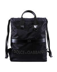 Dolce & Gabbana Black Logo Strap Backpack for men