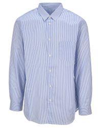 Comme des Garçons Blue Classic Striped Shirt for men