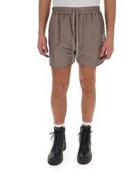 Moncler Genius Gray Moncler X Rick Owens Drawstring Shorts for men
