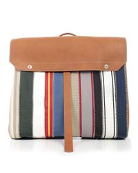 Maison Margiela Multicolor Oversized Striped Backpack