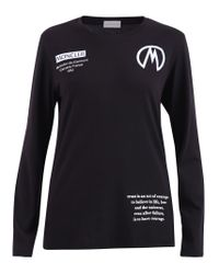 Moncler Black Long Sleeve T-shirt