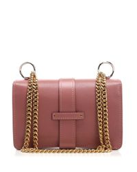 Chloé Pink Aby Logo Padlock Chain Shoulder Bags