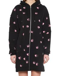 McQ Alexander McQueen - Black Swallow Hooded Sweater - Lyst