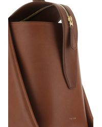 The Row Brown Tr1 Large Tote Bag