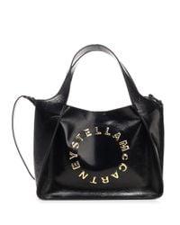 Stella McCartney Black Logo Plaque Tote Bag
