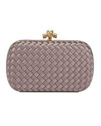 Bottega Veneta Gray Woven Clutch Bag