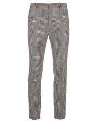 Alexander McQueen - Gray Tartan Check Trousers for Men - Lyst