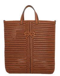 Anya Hindmarch Brown Neeson Tall Tote Bag