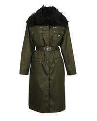 Prada Green Trench Coat